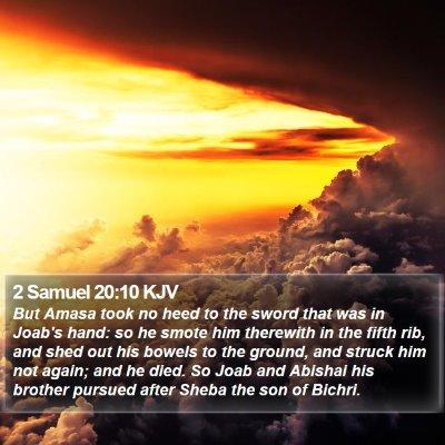 2 Samuel 20:10 KJV Bible Verse Image