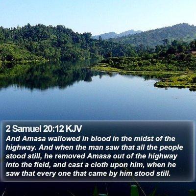 2 Samuel 20:12 KJV Bible Verse Image