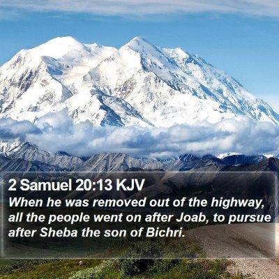 2 Samuel 20:13 KJV Bible Verse Image