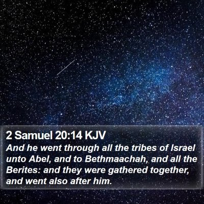 2 Samuel 20:14 KJV Bible Verse Image