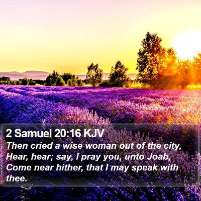 2 Samuel 20:16 KJV Bible Verse Image