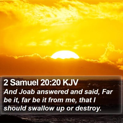 2 Samuel 20:20 KJV Bible Verse Image