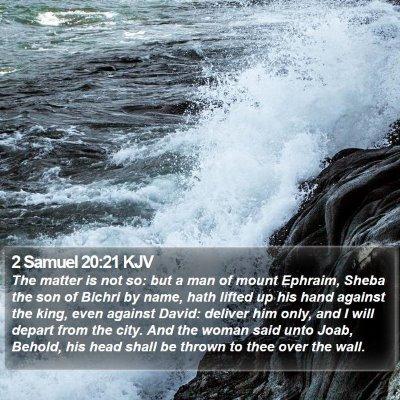 2 Samuel 20:21 KJV Bible Verse Image