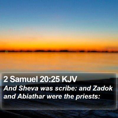2 Samuel 20:25 KJV Bible Verse Image