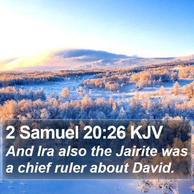 2 Samuel 20:26 KJV Bible Verse Image