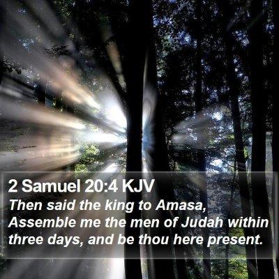 2 Samuel 20:4 KJV Bible Verse Image