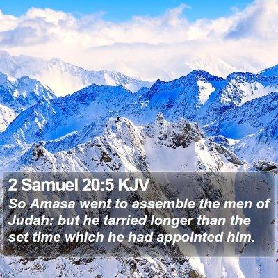 2 Samuel 20:5 KJV Bible Verse Image