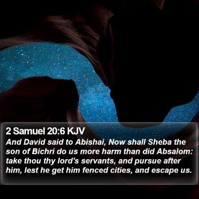2 Samuel 20:6 KJV Bible Verse Image