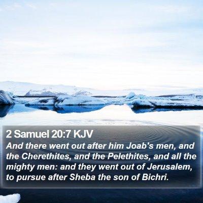 2 Samuel 20:7 KJV Bible Verse Image