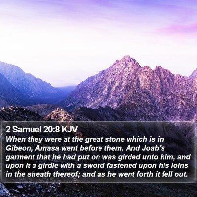 2 Samuel 20:8 KJV Bible Verse Image