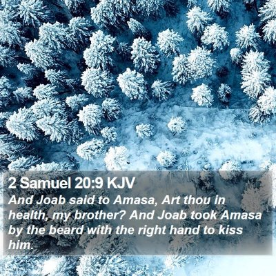 2 Samuel 20:9 KJV Bible Verse Image