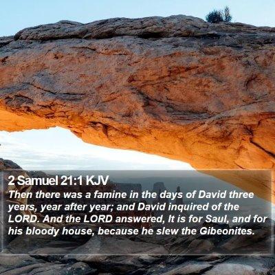 2 Samuel 21:1 KJV Bible Verse Image