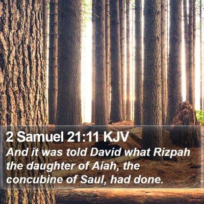 2 Samuel 21:11 KJV Bible Verse Image