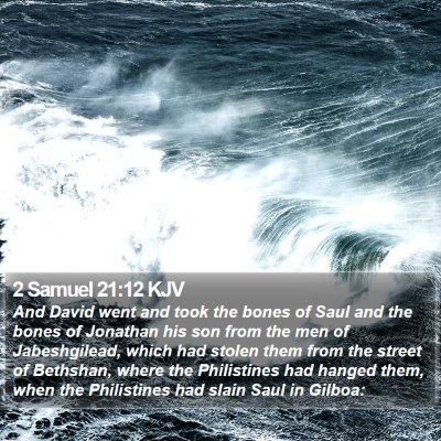 2 Samuel 21:12 KJV Bible Verse Image