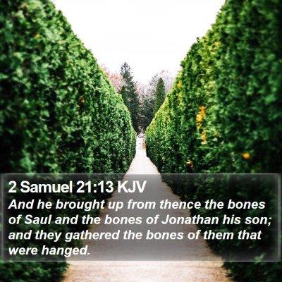 2 Samuel 21:13 KJV Bible Verse Image