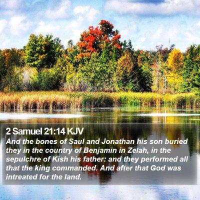 2 Samuel 21:14 KJV Bible Verse Image