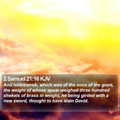 2 Samuel 21:16 KJV Bible Verse Image