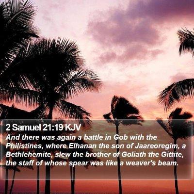 2 Samuel 21:19 KJV Bible Verse Image