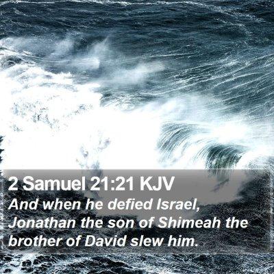 2 Samuel 21:21 KJV Bible Verse Image