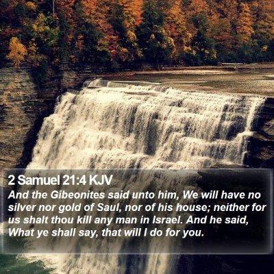 2 Samuel 21:4 KJV Bible Verse Image