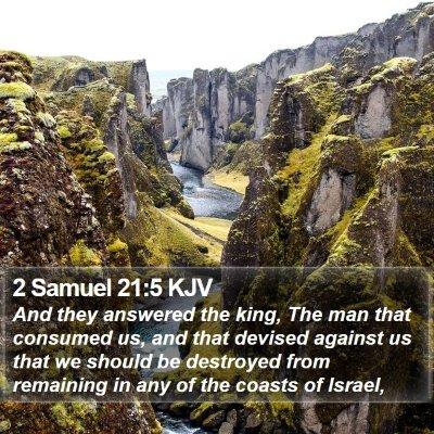 2 Samuel 21:5 KJV Bible Verse Image
