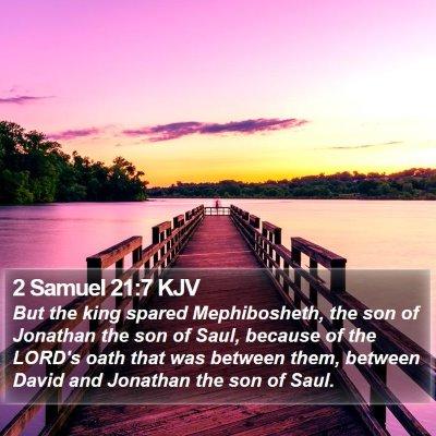 2 Samuel 21:7 KJV Bible Verse Image