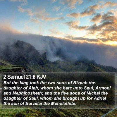 2 Samuel 21:8 KJV Bible Verse Image
