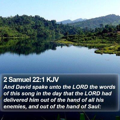 2 Samuel 22:1 KJV Bible Verse Image