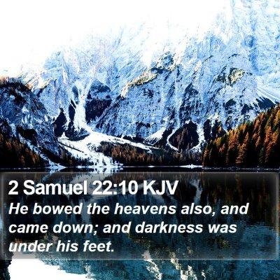 2 Samuel 22:10 KJV Bible Verse Image