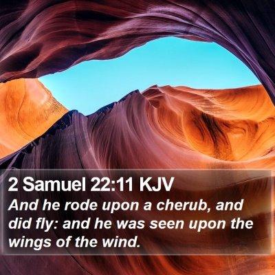 2 Samuel 22:11 KJV Bible Verse Image