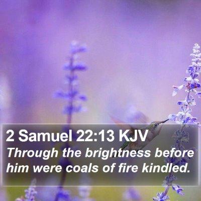 2 Samuel 22:13 KJV Bible Verse Image