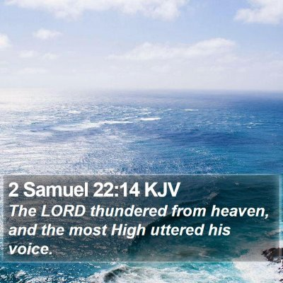 2 Samuel 22:14 KJV Bible Verse Image