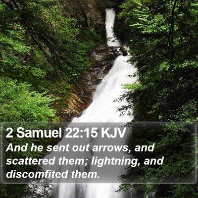 2 Samuel 22:15 KJV Bible Verse Image