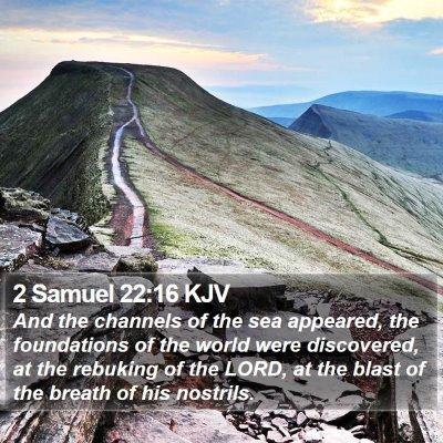2 Samuel 22:16 KJV Bible Verse Image