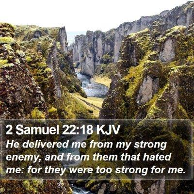 2 Samuel 22:18 KJV Bible Verse Image