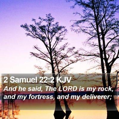 2 Samuel 22:2 KJV Bible Verse Image