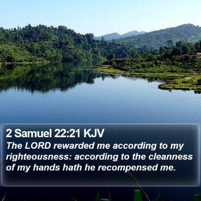 2 Samuel 22:21 KJV Bible Verse Image