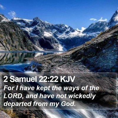 2 Samuel 22:22 KJV Bible Verse Image