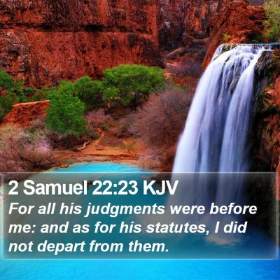 2 Samuel 22:23 KJV Bible Verse Image