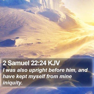 2 Samuel 22:24 KJV Bible Verse Image