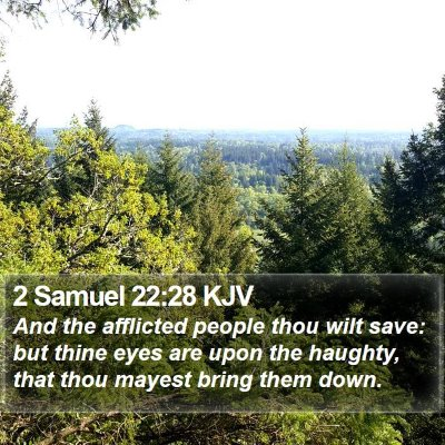 2 Samuel 22:28 KJV Bible Verse Image