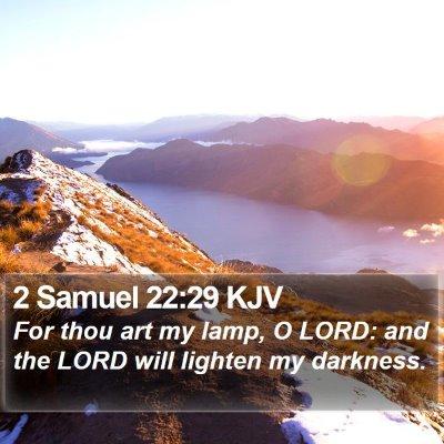 2 Samuel 22:29 KJV Bible Verse Image