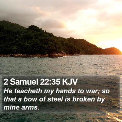 2 Samuel 22:35 KJV Bible Verse Image