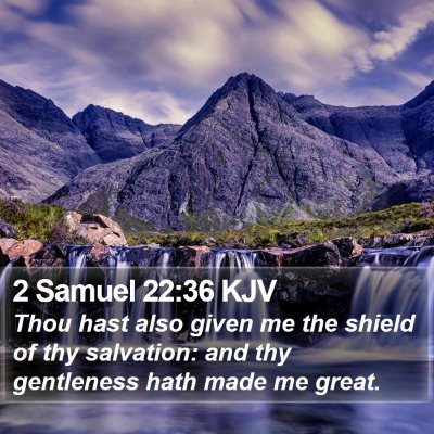 2 Samuel 22:36 KJV Bible Verse Image