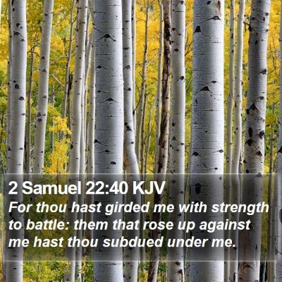 2 Samuel 22:40 KJV Bible Verse Image