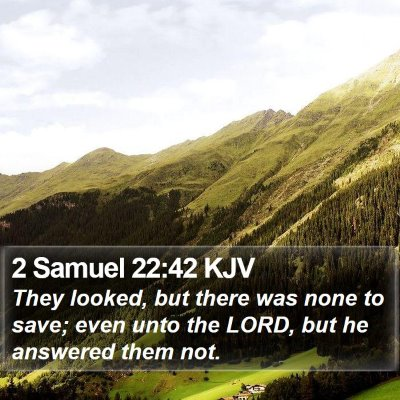 2 Samuel 22:42 KJV Bible Verse Image