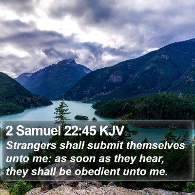 2 Samuel 22:45 KJV Bible Verse Image