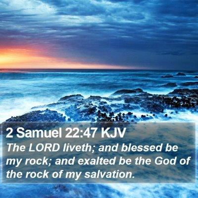 2 Samuel 22:47 KJV Bible Verse Image