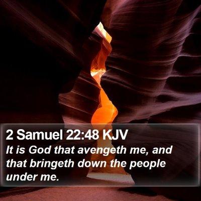 2 Samuel 22:48 KJV Bible Verse Image