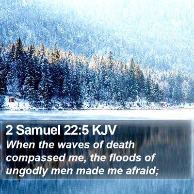 2 Samuel 22:5 KJV Bible Verse Image